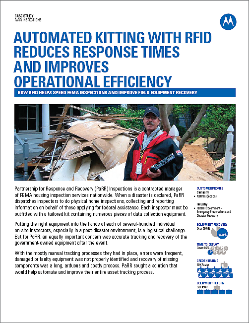 FEMA Emergency Field Kit Tracking Case Study