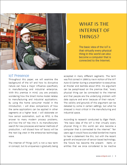 The Internet of Things in Manufacturing White Paper