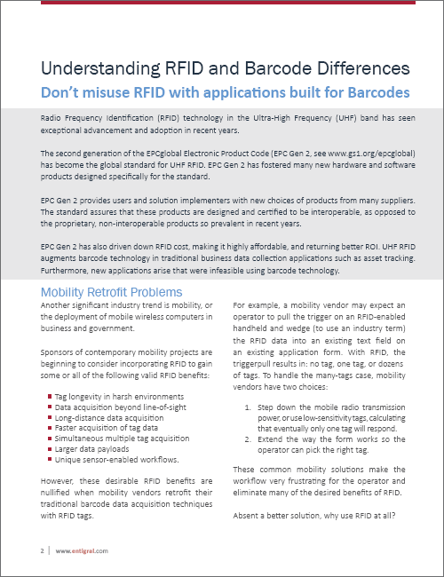 Understanding RFID and Barcode Differences White Paper
