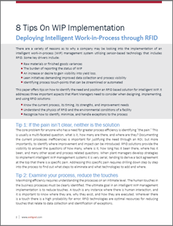8 Tips On WIP Implementation using RFID