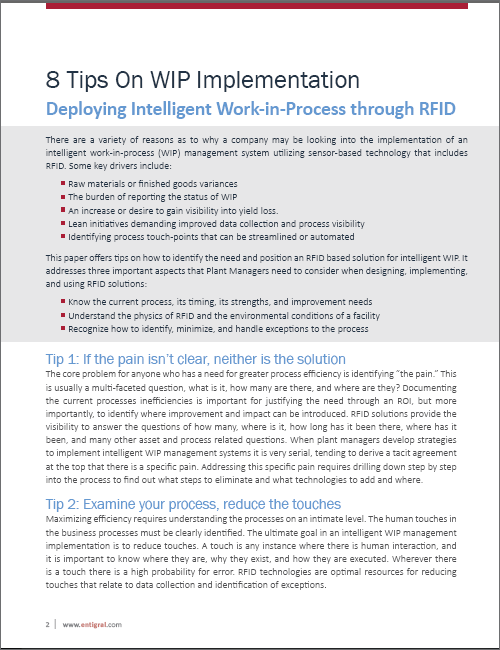 Tips On WIP Implementation using RFID White Paper
