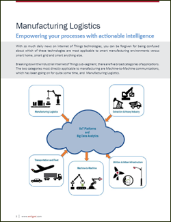 Applying IoT Tech to streamline Manufacturing Logistics
